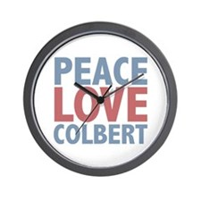 Peace Love Stephen Colbert Wall Clock