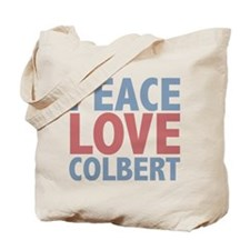 Peace Love Stephen Colbert Tote Bag