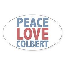 Peace Love Stephen Colbert Oval Decal