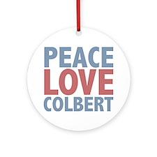 Peace Love Stephen Colbert Ornament (Round)