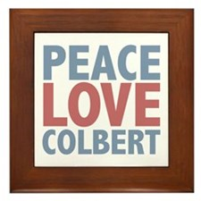 Peace Love Stephen Colbert Framed Tile