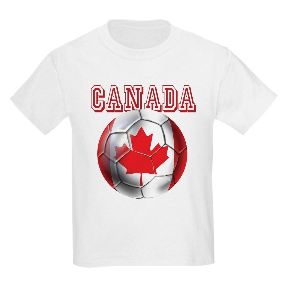 CafePress Canadian Soccer Ball Kids Light T-Shirt