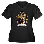 Nurnberger Family Crest Women's Plus Size V-Neck D
