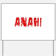 Anahi Faded (Red) Yard Sign