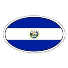 El Salvadorian stickers Oval Decal