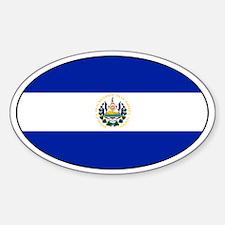 El Salvadorian stickers Oval Decal