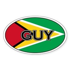 Guyanese Decals Oval Decal