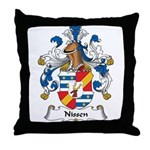 Nissen Family Crest Throw Pillow