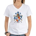 Nissen Family Crest Women's V-Neck T-Shirt