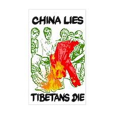 China Lies Rectangle Decal