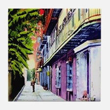 Pirates Alley Watercolor Tile Coaster