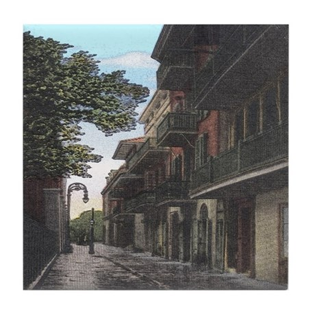Old French Quarter Tile Coaster