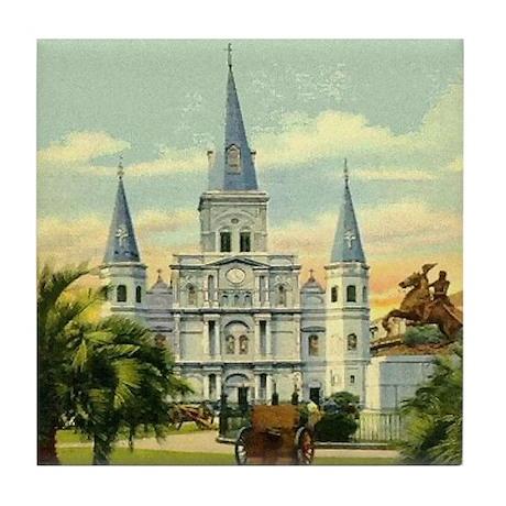 Old Jackson Square Tile Coaster