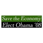 Save the Economy Elect Obama '08 sticker