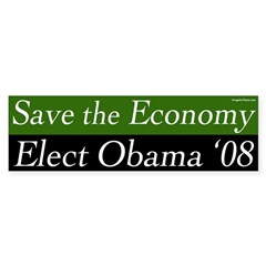Save the Economy Elect Obama '08 sticker