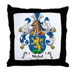 Nickel Family Crest Throw Pillow