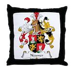 Neuner Family Crest Throw Pillow