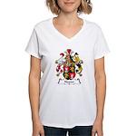 Neuner Family Crest Women's V-Neck T-Shirt