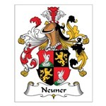 Neuner Family Crest Small Poster