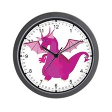 Pink Dragon Wall Clock