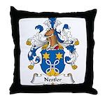 Nestler Family Crest Throw Pillow