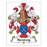 Nentwig Family Crest Small Poster