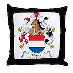 Neger Family Crest Throw Pillow