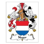 Neger Family Crest Small Poster