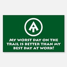 "At ""Worst Day On Trail"" Decal"