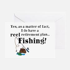 Reel Retirement Plan Greeting Card