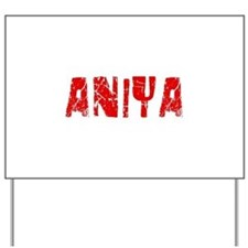 Aniya Faded (Red) Yard Sign