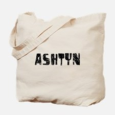Ashtyn Faded (Black) Tote Bag