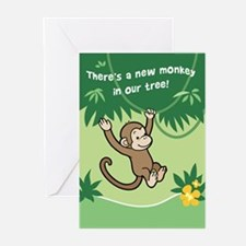 Monkey Baby Birth Announcement Cards (Pk of 20)