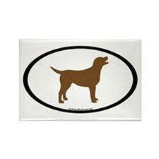 chocolate lab oval Rectangle Magnet
