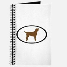 chocolate lab oval Journal