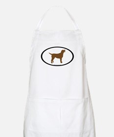 chocolate lab oval BBQ Apron