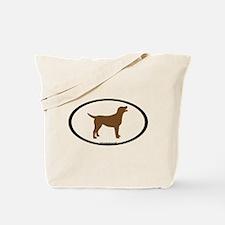 chocolate lab oval Tote Bag
