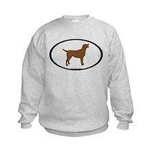chocolate lab oval Sweatshirt
