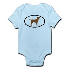 chocolate lab oval Infant Bodysuit