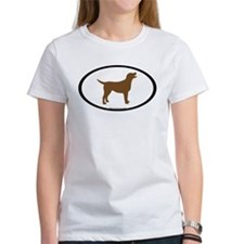 chocolate lab oval Tee