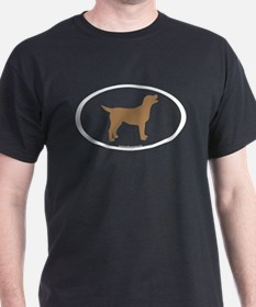 chocolate lab oval T-Shirt