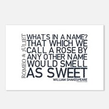 Romeo & Juliet Rose Quote Postcards (Package of 8)