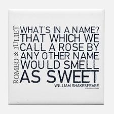 Romeo & Juliet Rose Quote Tile Coaster