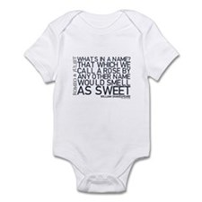 Romeo & Juliet Rose Quote Infant Bodysuit