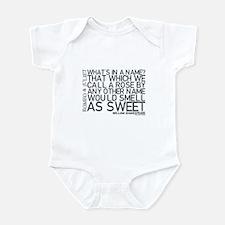 Romeo & Juliet Rose Quote Infant Bodysuit
