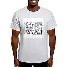 Romeo & Juliet Rose Quote T-Shirt