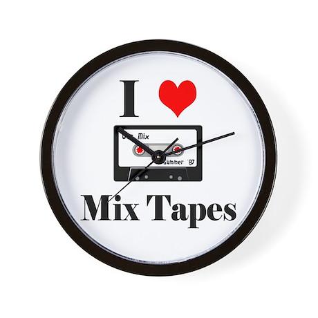 I Heart Mix Tapes Wall Clock