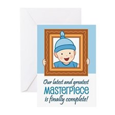 Cute Baby Boy Birth Announcement Cards (Pk of 10)