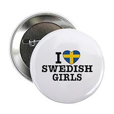 I Love Swedish Girls Button