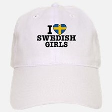 I Love Swedish Girls Baseball Baseball Cap